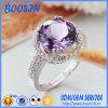 De Echte Ring van uitstekende kwaliteit van Zilveren bruiloft 925 met Purper Kristal