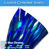 Etiqueta engomada azul del vinilo del coche de la película del arco iris del cromo del laser del color