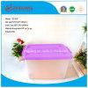 Cadre de empaquetage en plastique empilable en plastique de cadre de mémoire des produits 60L de qualité avec des couvercles pour des produits de ménage