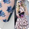 Chiffon- und Organza 3D Effect Chiffon- Fabric für Ladys Dress
