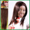 Trama européia reta de seda do cabelo humano do Virgin de Remy