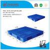 Palette en plastique de Rackable de double plate-forme lourde de côtés de grille (ZG-1412)