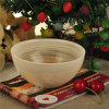 Bol en boule de cire de soja à base de béton en marbre / cuivre