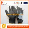 Перчатка работы запястья руки нитрила черноты раковины T/C серого цвета Ddsafety 2017 регулируемая