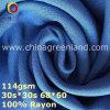 100%Rayon Plain a tela de tingidura tecida para o vestuário de matéria têxtil (GLLML369)