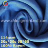 100% tela de teñido de tela plana de rayón para prendas de vestir de textiles (GLLML369)