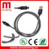 Câble usb noir de charge de synchro de nylon de tissu tressé de couleur
