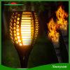 Flamme solaire de lumière de torche de DEL allumant la torche de clignotement solaire de DEL imperméable à l'eau pour la lumière décorative Marche/Arrêt automatique de torche d'arrière-cour de jardin