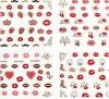 3D 빨간 심혼 빨간 입술 물 이동 못 예술 스티커 못 스티커