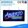 Muestra española de interior de Abierto LED del rectángulo de Hidly