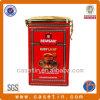 Il tè chiuso ermeticamente rettangolare popolare su ordinazione del metallo inscatola lo stagno del caffè con il coperchio e la serratura di plastica