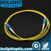 Sc óptico de Patchcord de fibra al amarillo a una cara del Sc LSZH