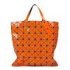 handbag (A042-5) 주황색 PU 기하학적인 마름모꼴 지퍼 숙녀