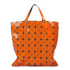 Señora rombal geométrica anaranjada Handbag (A042-5) de la cremallera de la PU