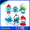 Movimentação azul do flash do USB do demónio do feiticeiro dos desenhos animados bonitos relativos à promoção do presente