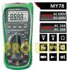 Multímetro digital profissional de 4000 contagens (MY78)