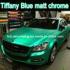Etiquetas azuis metálicas do envoltório do carro do cromo de Matt