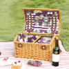 De hoge Rieten Mand van de Picknick van het Ontwerp van het Eind Nieuwe Handcrafted Gekleurde
