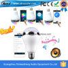 Ampoule accessible du haut-parleur DEL de la Chine Bluetooth d'approvisionnement d'usine avec l'amplificateur de la classe D