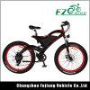 Bicicletta elettrica della gomma grassa potente verde