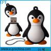 Personnaliser le lecteur flash USB de pingouin de dessin animé de modèle de PVC