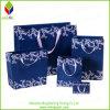 Bolsos especiales azul marino del regalo de la manera de la impresión con la maneta de seda