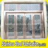 Portello di entrata di vetro del metallo di obbligazione interna dell'acciaio inossidabile