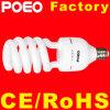 Demi de lampe en spirale d'économie d'énergie de la lampe fluorescente CFL de contrat d'hélix