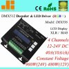 DMX RGBW Decoder, 4CH DMX512 СИД Driver, XLR и RJ45 DMX, 40A/960W