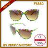 F6860 цветастые пластичные женщины Sunglass