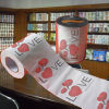 Les Valentines ont estampé l'essuie-main de papier d'impression faite sur commande de tissu de toilette