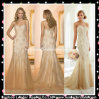 Champagne Bridal Gowns Applique Mermaid Tulle Wedding Dresses Yy2001