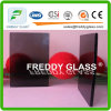 vidro modelado de Nashiji do cinza de 3mm/vidro modelado matizado
