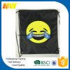 Sacchetto di Drawstring poco costoso di Emoji del poliestere di promozione 210d