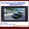 Reproductor de DVD del coche con la navegación del GPS