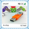 Выдвиженческий USB 2.0 Flash Drive Swivel с 10-летним Data Retention