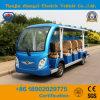 Nuove sedi di disegno 14 fuori dal bus facente un giro turistico elettrico della spola classica a pile della strada con Ce & lo SGS