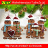Ornamento do Natal da argila do polímero, ornamento de suspensão da massa de pão da argila