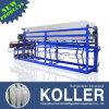 5 tonnes dirigent les machines de refroidissement de bloc de glace avec le plat en aluminium pour l'usine de nourriture