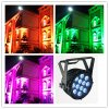 Openlucht 12PC 5 in 1 LED Flat LED PAR Light