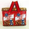Caja de la manija de la lata para el regalo y el alimento