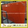 暗い- BenchtopまたはKitchentopのためのオレンジArtificial Quartz Stone Slab