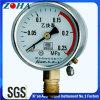 Conexão inferior Medidor de pressão de acetileno com caixa de aço cinza