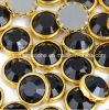 Rhinestone de DMC Hotfix SS16 4m Negro Aluminun Rim Stones Hot Fix con Pegamento para el vestido (SS16 Jet / A Grado)