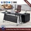 De moderne Lijst van het Bureau van het Glas van de Vorm van L Uitvoerende (hx-GL017)