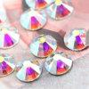 D'ab de Rhinestone Rhinestones en verre en cristal de dos plat de Hotfix non (FB-SS20 cristal ab)