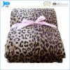 Cobertor 100% impresso do velo da flanela do projeto do poliéster leopardo macio super