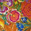 Flor brilhante Habotai de seda impresso