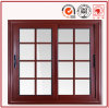 Grano di legno Windows di alluminio con doppio vetro