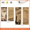 Étiquettes de coup de vêtement de tissu de trou de chaîne de caractères de papier d'emballage d'impression d'étiquette